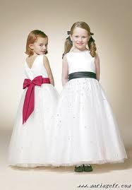 Robe de demoiselle d'honneur pour enfant