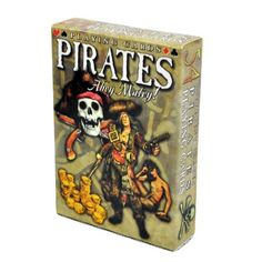 Pirates Ahoy Matey Playing Cards - Deck of 54 Cards by Marion & Co. $5.99. 54 card deck (including Jokers, 13 Clubs, 13 Diamonds, 13 Hearts, and 13 Spades).  Each card features a beautiful illustration of pirates and their weapons. Surrender the Booty and play a hand with the pirates!