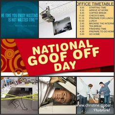 Today is National Goof Off Day.  #fun #goofy #holiday #silly #christineglobal #acleanlifenow #afeaturedhome #buyintitonline #gotiny #gotinyonline #referringothers #thelegshaveit