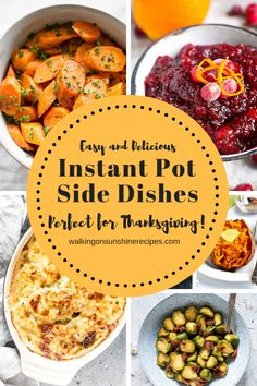 Thanksgiving Instant Pot Side Dishes that will help you get your holiday meal on the table FAST this year! Free up space in your oven this year! Thanksgiving Vegetables, Thanksgiving Appetizers, Thanksgiving Side Dishes, Thanksgiving Recipes, Holiday Recipes, Thanksgiving Prayer, Holiday Meals, Thanksgiving Outfit, Thanksgiving Decorations