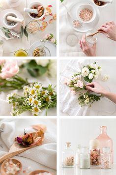 DIY Romantic Floral Bath Salts by Simone LeBlanc   Glitter Guide