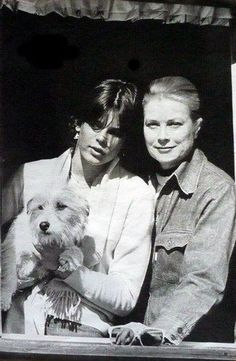 Grace Kelly with Stephanie Monaco As, Prince Of Monaco, Monaco Royal Family, Princess Grace Kelly, Princess Stephanie, Princess Charlene, Andrea Casiraghi, Charlotte Casiraghi, Royals