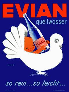 evian, si rein... si leicht... #evian #liveyoung #poster #vintage