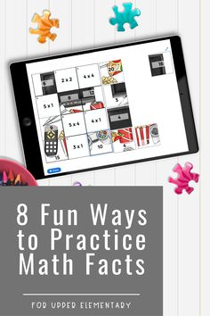 Set aside those boring math worksheets, here are 8 fun ways to practice math facts for upper elementary! You'll find a variety of ways to work on math facts including activities for in person or digital resources for use with Google to use at home. Think math games, puzzles, card games, interactive bulletin boards Multiplication Facts, Math Facts, Elementary Math, Upper Elementary, Interactive Bulletin Boards, Math Websites, Math Strategies, Help Teaching, Math Classroom