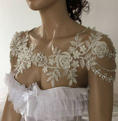 EXPRESS SHIPPING Bridal Dress Shoulder Necklace Rhinestone