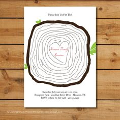 Family Reunion Invitations  Family Tree Trunk by sugarhouseink, $15.00