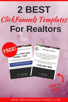 Our 2 Best Seller Lead ClickFunnels Templates For Realtors. learn the seller leads generation strategy. Home evaluation and offer estimates. And now for seller lead generation technique. Free report for increasing home sale values. Lead Generation, Digital Marketing, Cards Against Humanity, How To Get, Templates, Learning, Tips, Free, Stencils