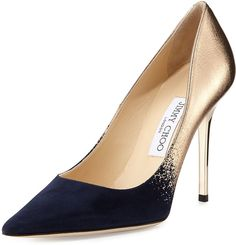 "Jimmy Choo [span class=""product-displayname""]Abel Degrade Point-Toe Pump, Navy/Nude[/span]"