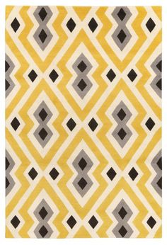 Syrie Yellow by Jonathan Adler for The Rug Company