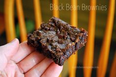 Decadent Black Bean Brownies - My Kitchen Escapades - a healthy recipe that tastes so good my kids didn't know they were good for them