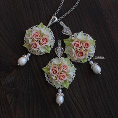 Новости Boho Jewelry, Beaded Jewelry, Jewelery, Polymer Clay Flowers, Polymer Clay Jewelry, Paper Clay, Clay Art, Polymer Clay Embroidery, Necklaces