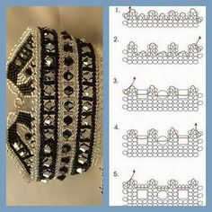Bracelet pattern - seed beads and bicones