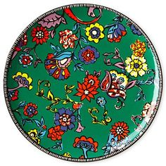 "funky colors -- Duro Olowu for jcp Paisley Round Platter 14"" - jcpenney"