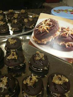 German chocolate whoopie pies