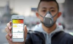 Concept Pollution Mask Has A Filter, Maps Out Air Quality Elsewhere and Around