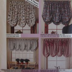 McCalls 4620 Pattern Balloon Shades and Valances Home Dec in a Sec