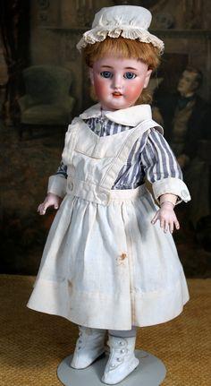 "18"" WWI German Bisque Nurse Doll by Simon Halbig/Bergmann"