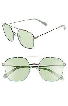 7207478cc55 POLAROID Designer 56mm Polarized Square Aviator Sunglasses