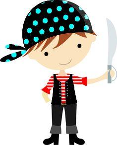 pirata Images Pirates, Pirate Clip Art, Arts And Crafts, Paper Crafts, Pirate Treasure, Art Corner, Cat Doll, Pirate Theme, Children Images