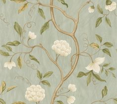 Snow Tree (7949/04) - Colefax and Fowler Wallpapers - 'Snow Tree' makes a welcome return to the pattern book. New inspiration is brought to this long standing favourite of the Colefax line. Glamorous and contemporary colourings successfully update this bold stylized tree of life design. Shown here in the aqua colour way. Wider width roll. Please request a sample for true colour match.