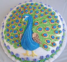 cake images with peacocks - Google Search