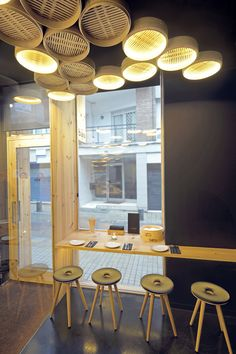 ERA Barcelona young architecture firm with english speaking architects based in hospitality & private design ready to build your restaurant, hotel & house in Spain Japanese Restaurant Design, Small Restaurant Design, Classic Restaurant, Restaurant Interior Design, Bao Restaurant, Interior Bistro, Asian Interior Design, Asian Cafe, Asian Bistro