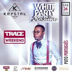 White party sensation no Krystal Grand Club, com mais um TRACE-Weekend em Lisboa,os convidados sao:Nsoki,Puto Portugues,Paulo Alves,Dj Kiko Mau e Dandy Lisbon.TRACE Toca A Paixão Da Musica. #traceweekend #tracetoca #apaixaodamusica @nsokimusic  @putoportugues  @djpauloalves @dandylisbon