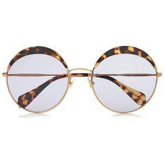24f4a13102ec Miu Miu Round Frame Acetate And Metal Sunglasses ( 255) ❤ liked on Polyvore  featuring · Oversized Round SunglassesTortoise ...
