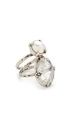 ¡Consigue este tipo de anillo de CHAN LUU ahora! Haz clic para ver los detalles. Envíos gratis a toda España. Chan Luu Double Stone Ring: A single freshwater cultured pearl and a striated, polished moonstone lend bohemian elegance to this double-band Chan Luu ring. Sterling silver. Imported, Vietnam. (anillo, anilla, anillas, anillo, sortija, sortijas, ring, rings, ring, anillo, bague, anello, anillos)