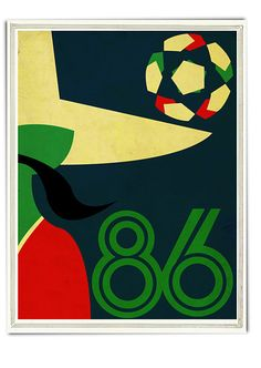 I love this take on the 1986 Mexico World Cup logo from Neil Stevens of http://www.crayonfireshop.co.uk/
