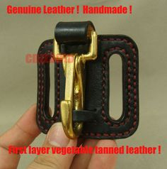 Genuine Leather & brass snap hook easy release Key ring Belt Clip holder in Business & Industrial, MRO & Industrial Supply, Safety & Security | eBay