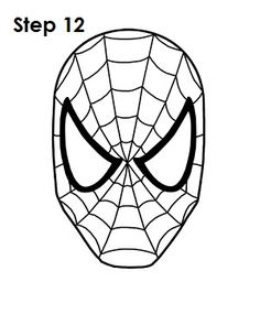 "Spiderman face drawing represents a fictional superhero belongs to the Marvel Cinematic Universe with a character named ""Peter Parker"" Easy Drawing Tutorial, Spiderman Face, Spiderman Drawing, Avengers Drawings, Drawing Superheroes, Oil Pastel Drawings, Easy Drawings, Simple Face Drawing, Man Sketch"