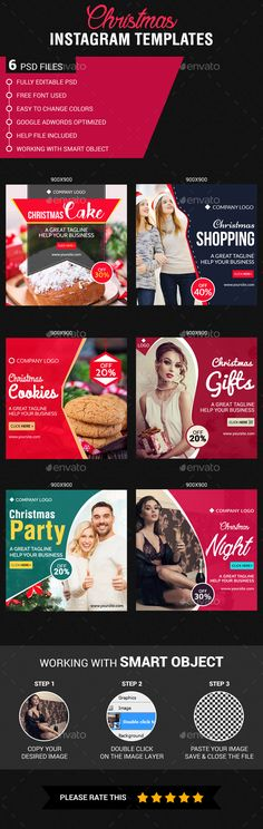 Christmas Instagram Banner Templates PSD #design #ads Download: http://graphicriver.net/item/christmas-instagram-templates/14041689?ref=ksioks