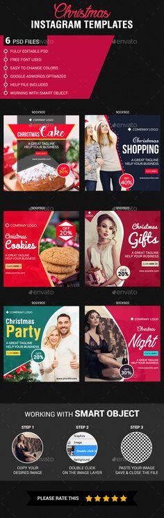 Christmas Instagram Banner Templates PSD #design #ads Download: http://graphicriver.net/item/christmas-instagram-templates/14041689?ref=ksioks