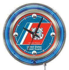 Use this Exclusive coupon code: PINFIVE to receive an additional 5% off the US Coast Guard Neon Logo Clock at SportsFansPlus.com