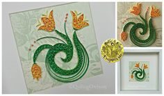 'Tulips' Original paper quilling by Quilling Owl https://www.facebook.com/media/set/?set=a.852701888139764.1073741864.664237603652861&type=3