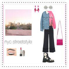 """streetstyle"" by vnae18 on Polyvore featuring Balenciaga, Miu Miu, Dr. Martens, Oscar de la Renta, Sunday Somewhere, M2Malletier and Polaroid"