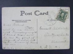 Pompanoosuc Vermont Windsor Co 1907 Type 2/4 Doane Cancel DPO 1849-1943 Postcard