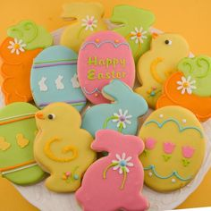 Easter Sugar Cookie Assortment (12 favors, bagged & bowed)