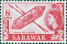 Sarawak 1955 SG 192 Shield and Spears Fine Mint SG 192 Scott 201 Other Stamps Here