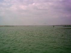Puente de Europa desde Ayamonte, Huelva Beach, Water, Outdoor, Bridges, Europe, Gripe Water, Outdoors, The Beach, Beaches