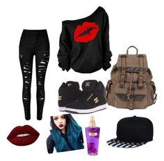 """Untitled #16"" by goodfashion15 on Polyvore featuring DC Shoes, Wilsons Leather, Lime Crime and Victoria's Secret"