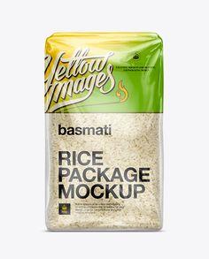 Basmati Rice Package Mockup. Preview
