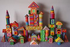 Vintage/Retro Children's Wooden Colourful by ElspethMcLean on Etsy