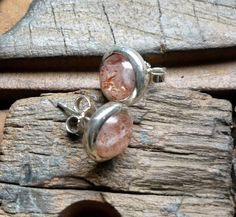 sterling silver stud cherry quartz earrings - Candyland