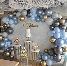 Our baby Marcus' Christening and First Birthday celebrations 💙 Baptism Party Decorations, Baby Boy Decorations, Balloon Decorations, Birthday Decoration For Boy, Baby Boy Christening Decorations, Baby Boy Baptism, Baby Boy 1st Birthday, Free Birthday, Baby Christening