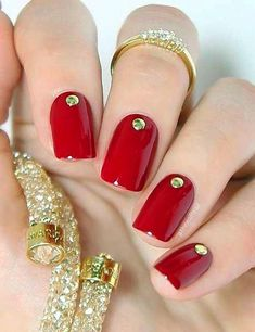 96 Awesome Red Nail Art Ideas, Nail Design Red Nails Coffin Acrylic Designs Art Ideas, Amazing Red Nail Art Designs & Ideas for Girls 2013 90 Red Nail Art Designs 2019 Best Manicure Ideas Nailsstock, Look at these Red Nail Art Ideas. Diy Red Nails, Red Nail Art, Red Acrylic Nails, Red Nail Polish, Fun Nails, Matte Nails, Red Art, Bling Nails, Sparkle Nails