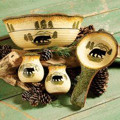 Black Bear Forest Kitchen Accessories