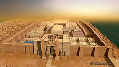 Reconstruction of the Luxor Temple, Discovering Ancient Egypt Ancient Egyptian Cities, Egyptian Temple, Luxor Temple, Egyptian Art, Ancient Art, Ancient History, 3d Reconstruction, Valley Of The Kings, Medieval World