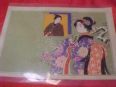 Vintage Japanese Woodblock Print of 1910 Feminest Asian by MAYSVTG, $189.95